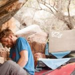 Nicholas Foster chalks up for King Troll in Red Rocks Canyon, Nevada
