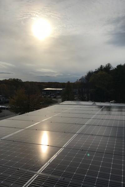 EVO Rock + Fitness Solar panels