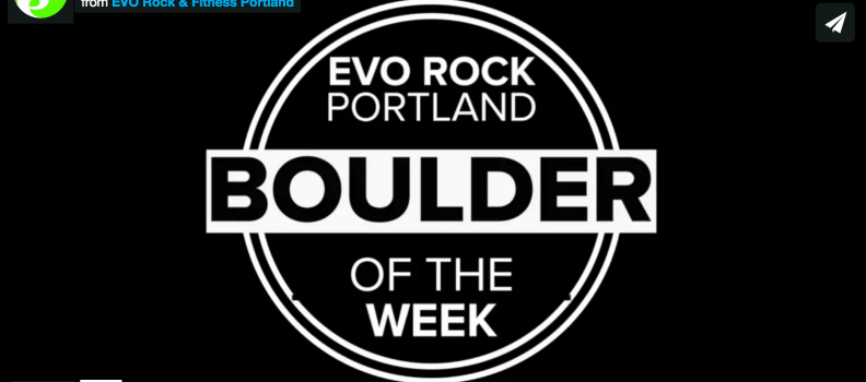 Boulder of the Week 8-9-16