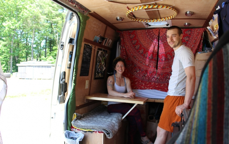 Two Climbers, One Maine Coon Cat, and Life in a Van