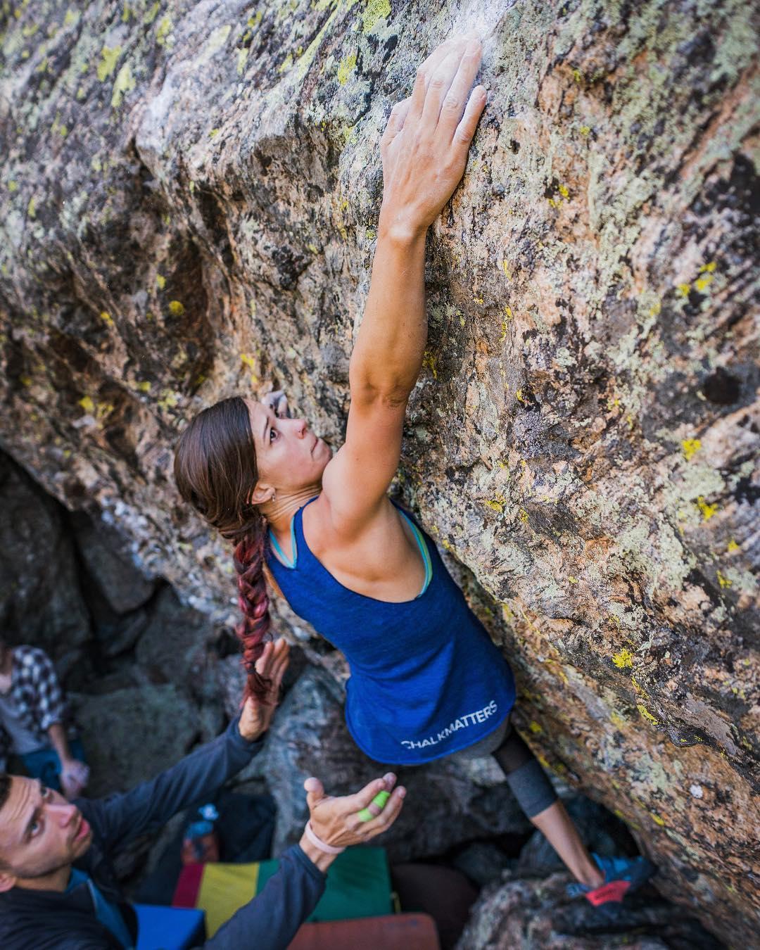 Alexandra Fox bouldering
