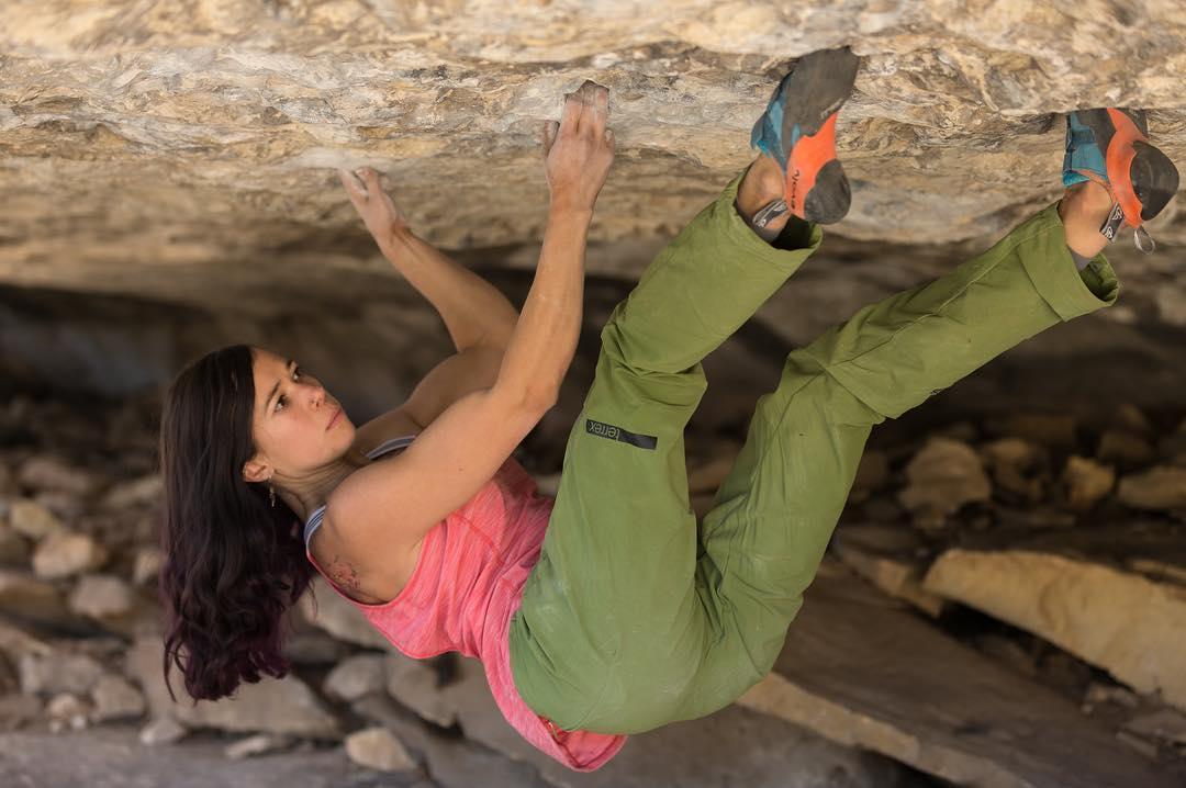 Alexandra roof climbing in Flagstaff, AZ