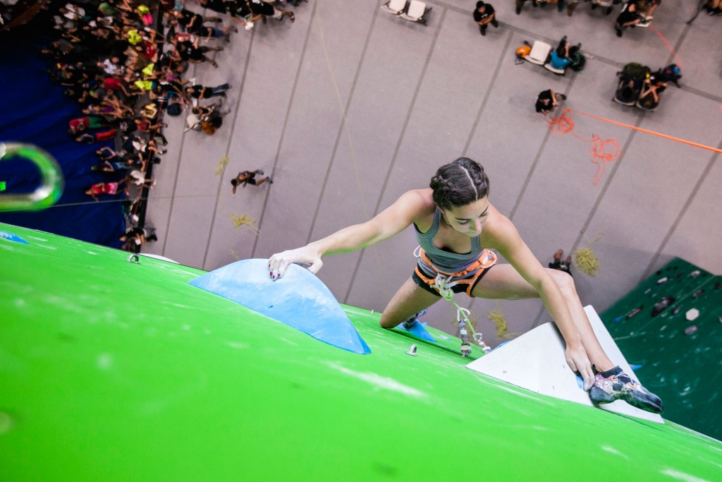 Brooke Raboutou Lead Climbing Competition