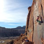crack climbing indian creek UT - trad climbing