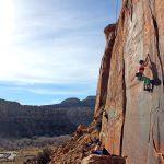 crack climbing indian creek UT - trad climbing